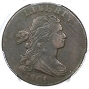 1801 S-213 R-2 Pcgs Xf Details Draped Bust Large Cent Coin 1c