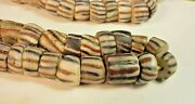 Sand Type Trade Bead Necklace Approx 24 Long And 1/2 80+ Beads Wholesale Lot
