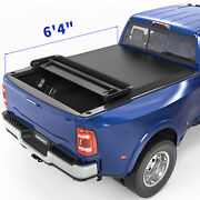 Oedro Soft Quad Fold Truck Bed Tonneau Cover For 2002-2021 Dodge Ram 1500 6.4ft
