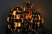 3 Dragon Eggs Table Lamps Onyx/alabaster Amber Beautiful
