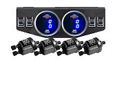2 Dual Digital Display 200psi Air Gauges And Panel Four Switch Air Ride Suspension
