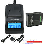 Kastar Battery Lcd Fast Charger For Ahdbt-302 And Gopro Hd Hero3+ Black Edition