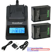 Kastar Battery Lcd Fast Charger For Gopro Ahdbt-201 Ahdbt-301 Gopro Acarc-001