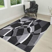 Rugs 8x10 Area Rug Abstract Modern Contemporary Geometric Design 5x7 Rug Gray