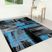 Flooring Rug Abstract Contemporary Modern Design Mixed Brush Area Rugs 8x10