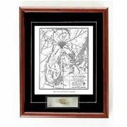 Civil War Framed Print Battle Of Gettysburg With Relic Authentic Bullet