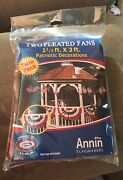Lot 2 New Twin Pack Annin Flagmakers Two Pleated Fans 1 1/2x3 Ft-patriotic Decor