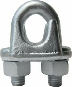 1 Drop Forged Heavy Duty Galvanized Wire Rope Clips 20-pack