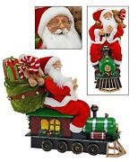 Katherineand039s Collection 25and039cuckoo Christmas Santa On Train Display Doll Sold Out