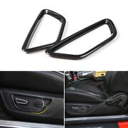 Carbon Fiber Seat Adjust Control Button Decor Ring Frame Trim For Ford Mustang