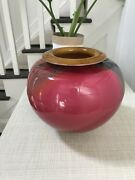 Michael Mortara Blown Glass Vase. Signed And Excellent Condition. 2004