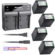 Kastar Battery Rapid Charger For Sony Np-fh100 And Sony Dcr-sx40 Dcr-sx41 Dcr-sx50