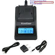 Kastar Battery Lcd Fast Charger For Sony Np-fh100 And Dcr-hc22 Dcr-hc23 Dcr-hc24