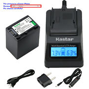 Kastar Battery Lcd Fast Charger For Sony Np-fh100 And Dcr-sx40 Dcr-sx41 Dcr-sx50
