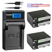 Kastar Battery Lcd Usb Charger For Canon Bp-970g Bp-945 And Xh-a1s Hd Xh-a1se Hdv