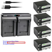 Kastar Battery Dual Charger For Canon Bp-970g Bp-945 And Canon Gl1 Gl-1 Gl2 Gl-2