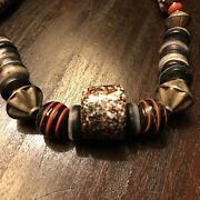 1970s Vintage Millefiore Venetian Glass African Trading Beads Necklace