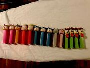 Lot Of 14 Vtg Pez Dispensers Garfield And Friends