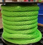Anchor Rope Dock Line 1/4 X 200and039 Braided 100 Nylon Lime Made In Usa