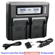 Kastar Battery Dual Lcd Fast Charger For Sony Np-qm91d Dcr-pc115 Dcr-pc6 Dsc-s75