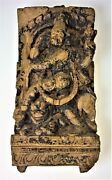 Shiva. Relief. Carved Wood. Remains Of Polychrome. India. Centuries Xviii-xix