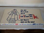 Vintage On No Weand039re Fresh Out Tip Top Bread Store Display Shelf Talker 27 X 12