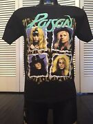 Vintage 1990 Poison Flesh And Blood Tour Shirt Size Small