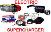 Performance Electric Air Intake Supercharger Fan Motor Cone Kit Fit For Chevy