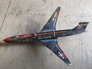 Vintage--tomiyama Us Air Force Tin Toy Plane--1950and039s---parts Or Repair
