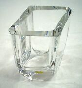 Kosta Boda Crystal Four Sided Vase Handmade Numbered And Signed Sig. P.