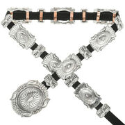 Hammered Sterling Concho Belt Traditional Navajo Patterns