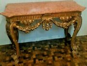 Beautiful Italian Console Table With Marble Top Sale