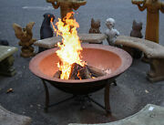Cast Iron Fire Pit, Designed From 19th C. Georgia Syrup Kettles, 48 W