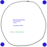Wholesale Bulk Lot Ball Chain Necklace Findings Free Shipping