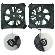 2pc Pair Set Radiator A/c Ac Condenser Cooling Fan Fit For Tesla Model S 2012-15