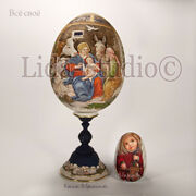 Unique Christmas Art Egg The Holy Family. Nativity. Hand Painted By Lida-studio