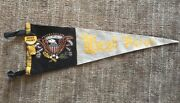 1950s Vintage West Point Army Full Size 5 Color Pennant And Pin Button W Ribbon