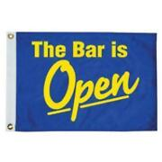 Taylor Made Bar Is Open 12 X 18 Nylon Flag 1615