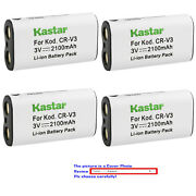 Kastar Replacement Battery For Canon Cr-v3 And Canon Powershot A60 A70 A75 A300