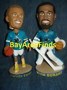 San Jose Sharks And Gs Warriors Stephen Curry And Kevin Durant Bobblehead Sga Bobble