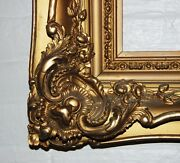 French Antique Louis Xv Ornate Carved Gilded Frame Mirror 20x30 Estate Sale