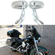 Motorcycle Parts Chrome Rearview Custom Side Mirrors For Harley Motorbikes Refit