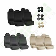 5mm Soft Padding Beige Black Gray Embossed Cloth Car Auto Seat Covers For Honda
