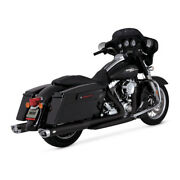 Vance And Hines Dresser Duals Elbow Black, For Harley Davidson Touring 09-16