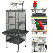 61 Large Bird Cage Large Play Top Parrot Finch Cage Cockatiel Cockatoo Play Top