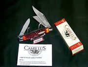 Camillus 884 Rough Cut Tobacco Stockman Inscribed 4 Cl. W/packaging And Papers