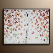 Amazing Leaves Painting 60 Foliage Leaf Autumn Oil Painting, Modern Style