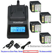 Kastar Battery Lcd Fast Charger For Jvc Bn-vf714 And Gr-df590 Gr-df540ez Gr-x5us