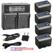 Kastar Battery Lcd Dual Fast Charger For Sony Np-qm71d And Dcr-dvd301 Dcr-dvd91