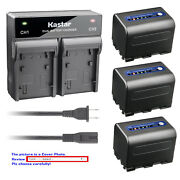 Kastar Battery Ac Rapid Charger For Sony Np-qm71d And Dcr-trv10 Dsc-f717 Dsc-s30